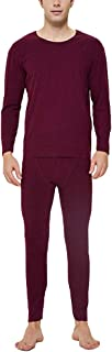 YOUCAI Men Winter Warm Ski Thermal Underwear Suit Crew Neck Long Sleeve Base Layer Top Undershirt & Bottoms for Running Sk...