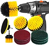 RAIN QUEEN Drill Brush 10Pcs Electric Cleaning Brush Power Scrubbing Brush Drill Fixing bohrmaschine...