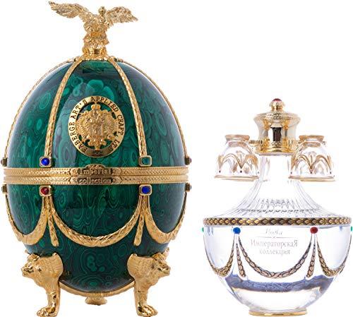 Imperial Collection Vodka Fabergé Ei Grün 40% - 700 ml in Giftbox