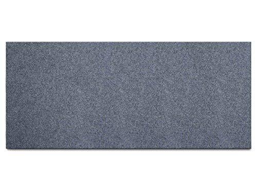 Schmutzfang-Teppich-Läufer Meterware PICOLLO - Grau-Blau, 1,00m x 4,00m, Rutschfester Küchenläufer, Robuste Sauberlauf-Matte
