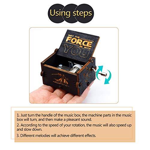 Puro mano clásico ' Star Wars 'caja de música caja de música de madera a mano...