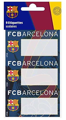 Etiketten, zelfklevend, Barça, officiële collectie FC Barcelona, 9 stuks