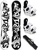 AIRTRACKS Lady Snowboard Set - Tabla BWF Mujer 150 -...