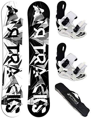 AIRTRACKS Lady Snowboard Set - Tabla BWF Mujer 150 - Fijaciones Master W M - SB Bag/Nuevo
