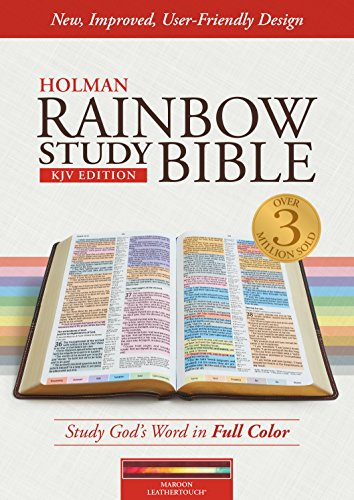 KJV Rainbow Study Bible, Maroon LeatherTouch, Indexed
