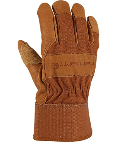 Carhartt Men's System 5 Work Glove with Safety Cuff, Brown, X-Large