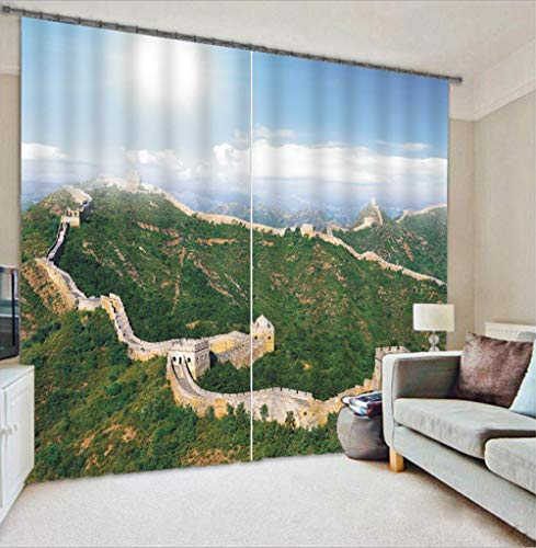 Nonebranded Darkening Blackout Curtain - Great Wall Architectureh215 X W200 Cm