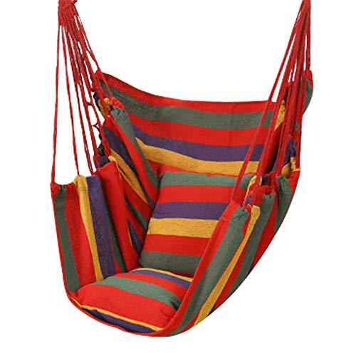 Zacha - Poltrona sospesa per esterni, con 2 cuscini, sedia a dondolo, Not null, Multicolore, Taglia unica