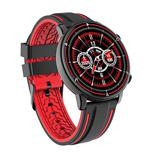 jinclonder Q83 Smartwatch Voll-Touchscreen Multi-Dial-Schalter IP68 estanco Flut hombres Herzfrequenz Sportuhr All-in-One mejoradas precisión inteligente, Negro
