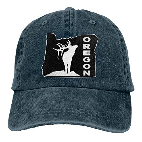 Egoa Baseball Cap Oregon Elk Washed Denim Cap Papa Hut Personalisiert Einstellbar Unisex Angeln Klassisch Gemütlich Hiphop Langlebig Trucker Hut Baseball Cap