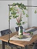 Möbel Jack Deko-Tischgestell Tischstange Dekostange Tischdekorationshalter zum Klemmen | Breite 140 cm | Ausziehbar auf bis zu 250 cm | Metall | Schwarz