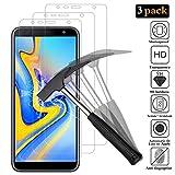 ANEWSIR 3X Protector de Pantalla para Samsung Galaxy J6 Plus/Galaxy J4 Plus, Protector de Pantalla, 0.33mm 9H Dureza Cristal Templado para Samsung Galaxy J6 Plus 2018