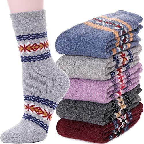 Womens Wool Socks Boot Warm Cotton Comfort Work Duty Winter Socks (Snowflake C)