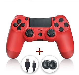 Mando PS4, PS4 Controller, Controlador PS4, Mando Inalámbrico Gamepad Compatible con Playstation 4 (Rojo)
