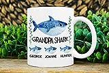 Keyboard cover Opa Regalo per nonno, tazza per nonno, con nome per bambini, in ceramica bianca