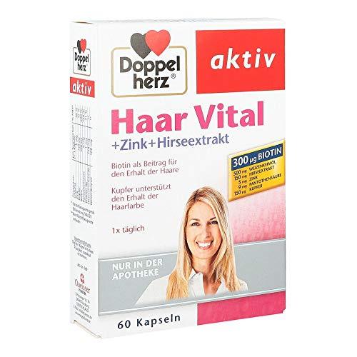 DOPPELHERZ Haar Vital+Zink+Hirseextrakt Kapseln, 60 St