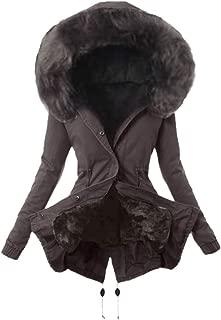 🍒 Spring Color 🍒 Women's Luxury Winter Long Sleeve Warm Faux Fur Hooded Coat Fleece Lining Heavyweight Outwear Jackets