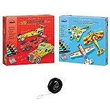 Lot Crea Lign : Maquettes déco Avions + Maquettes déco Voitures de Course + 1 Yoyo Blumie