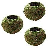 LOVIVER Balcón Cuenco Maceta Forma de Bola de Hierbas Casa de Muñecas Decoración Bricolaje - 3 Piezas, 12cm
