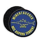 Copytec Patch Minentaucher Sägefisch Kompanie Abzeichen Marine Bundeswehr Aufnäher Eckernförde...