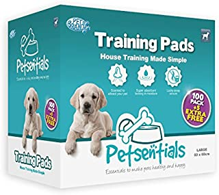 Petsentials 100 Pack Puppy/Dog Super Absorbent Odour Locking Multi Layered Training Pads with 5 Extra Free