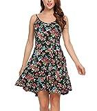 Unibelle Ärmelloses, Nachthemd Ärmellos Nachtwäsche Negligees Sommerkleid Riemchensommer Strand Swing Minikleid Kleider Kleid für Damen -XXL