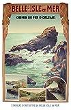 Poster Bretagne Belle Isle en Meer, Reproduktion, Format 50