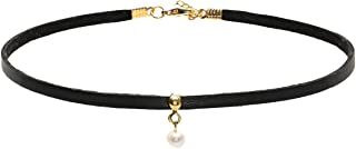Alwan Choker Necklace with Pearl for Women - EE3723NPDB