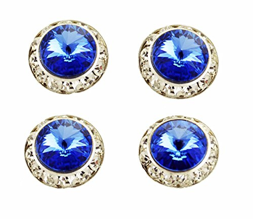 Horse jewelry magnetic contestant show number pins swarovski sapphire crystals set of 4