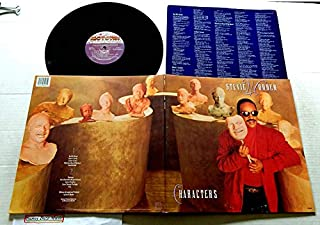 Stevie Wonder Characters - Motown Records 1987 - Used Vinyl LP Record - 1987 Pressing 6248ML Embossed Cove - Free - Skeletons - Dark 'N Lovely - One Of A Kind - Get It (with MICHAEL JACKSON )
