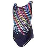 Kinder Mädchen Schwimmanzug Badenmode Badeanzug Einteiler one Piece, Meteorschauer 150cm/28-30kg(eine oder Zwei Größe großer)