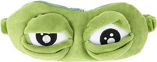 Yudanny Cute Animal Frog Travel Sleep Eye Mask, Personalized Fit Light Blocking Sleeping Mask for Rest Fun Home Sleeping Traveling
