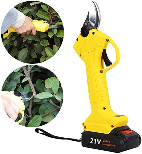 Check Out This WUAZ Cordless Electric Pruning Shears,2 Rechargeable 2Ah Lithium Battery Powered Tree...