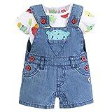 Tuc Tuc Peto Vaquero+Camiseta Punto NIÑO Cute Ice Petos, Bebé-Niños, Azul (Azul 16), Recién Nacido (Tamaño del Fabricante:0M)