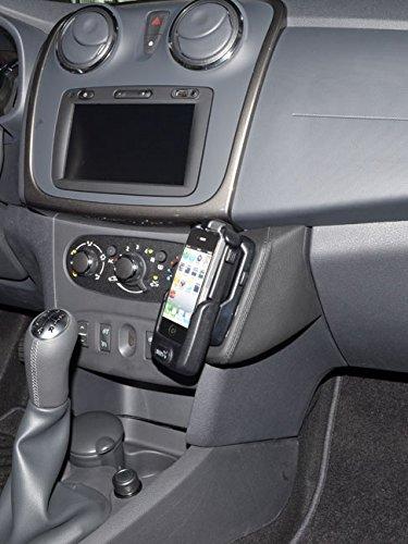 KUDA 038045 Halterung Kunstleder schwarz für Dacia Sandero (2. Gen) / MCV 2 ab 03/2012