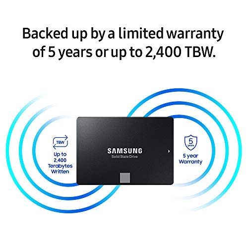 Samsung 860 EVO 500GB 2.5 Inch SATA III Internal SSD (MZ-76E500B/AM)