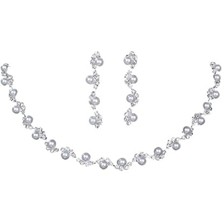 Ecloud Shop/® Drops-Shaped Lignes Noires en Murano Boucles doreilles Pendentif Collier Mode Set