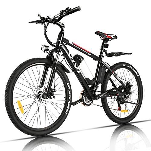 Bicicleta eléctrica VIVI Bicicleta de montaña para adultos de 26 'con motor de 350 W, batería extraíble de 36 V / 8 Ah / Engranajes 21 velocidades / 32 km / h / Millaje de recarga hasta 40 km