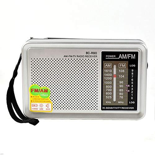 ZUZEN Radio AM FM portátil retro vintage integrado en el bolsillo receptor mundial multipropósito R90 para personas mayores Radyo nuevo