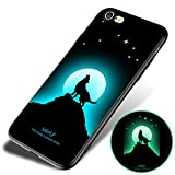 iPhone 6/iPhone 6s Fluorescence Case, ACMBO Slim-fit Luminous Soft TPU Shockproof Anti-Scratch No-Fade Protective Bumper Phone Cases Cover for Apple iPhone 6s/6 4.7 inch,Wolf