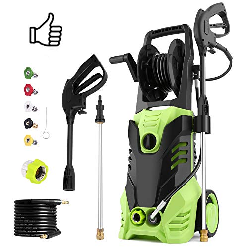Homdox 2880 PSI Pressure Washer, Electric 1800W High Pressure Power Washer Machine, 1.7 GPM Power Washer Cleaner with Hose Reel 5 Nozzles