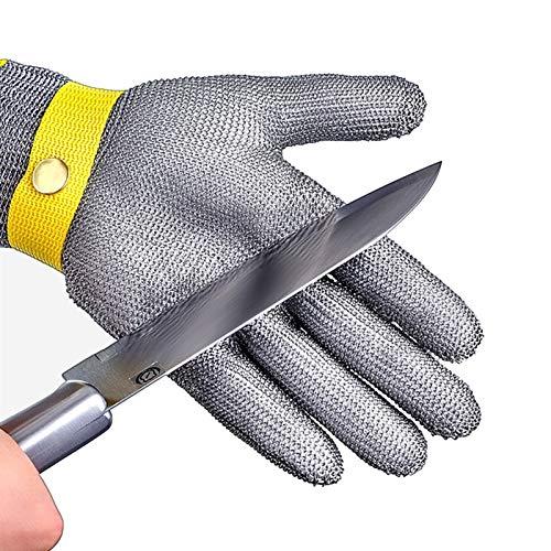 Guantes Resistentes a Cortes Guante Resistente A Los Cortes De Jardín, Guantes Resistentes A Los Cortes Para La Seguridad En El Trabajo Del Carnicero De La Cocina, Correa De Muñeca Ajustable