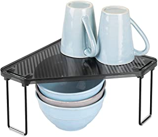 mDesign Estante de cocina – Soporte para platos para encimera o interiores de armarios – Organizador de armarios de cocina...