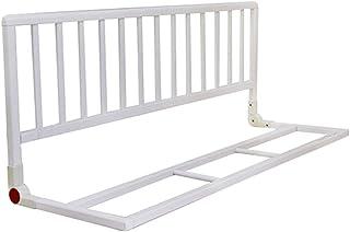 XJJUN-Barandillas para camas Cerca De Bebé A Prueba De Caídas De Madera Barandilla Durable Cama Universal Adecuado para Ancianos Y Niños, 2 Colores (Color : Blanco, Tamaño : 116x38x46cm)