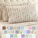 Thermee Micro Flannel Shavel Home Products Sheet Set, Queen, Happy Forest