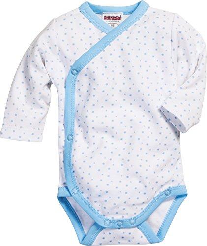 Playshoes GmbH Schnizler Baby-Unisex Wickelbody Sterne allover Body, Blau (weiß/bleu 117), Frühchen (Herstellergröße: 44)