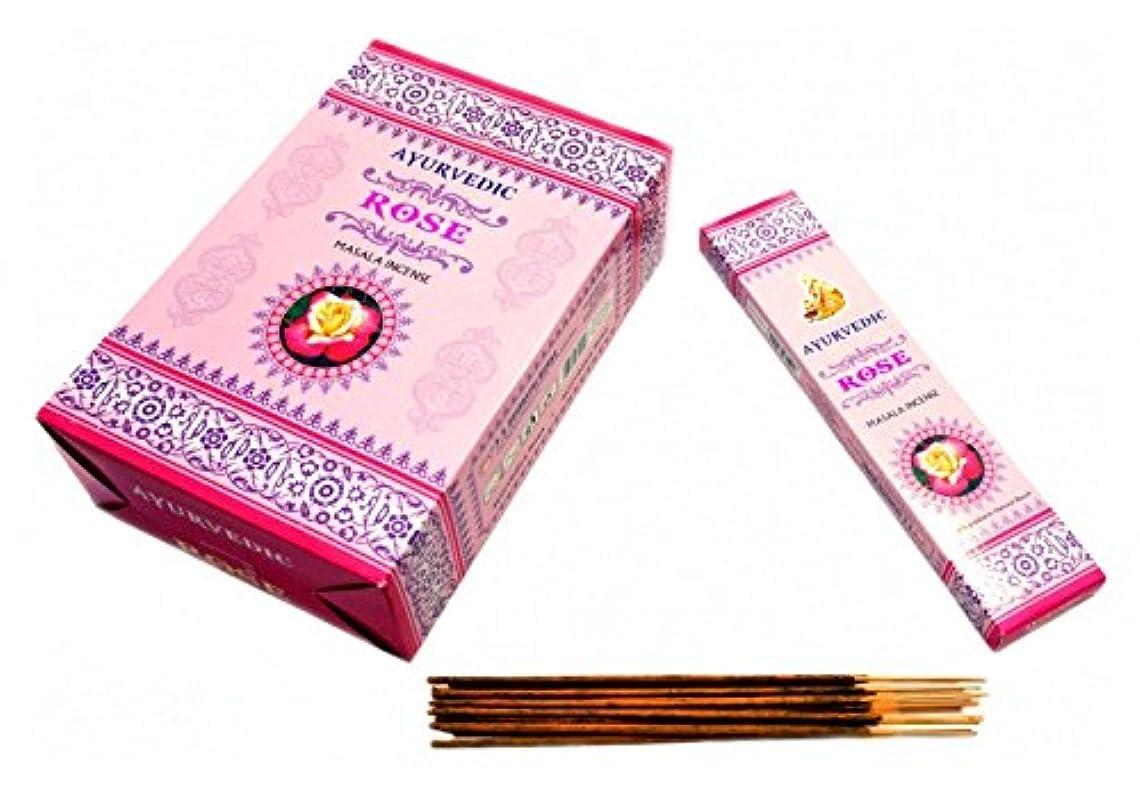 明らかにするメロディーワンダーAyurvedic Rose Masala Incense Sticks Agarbatti ( 12パックX 15?Sticks各)