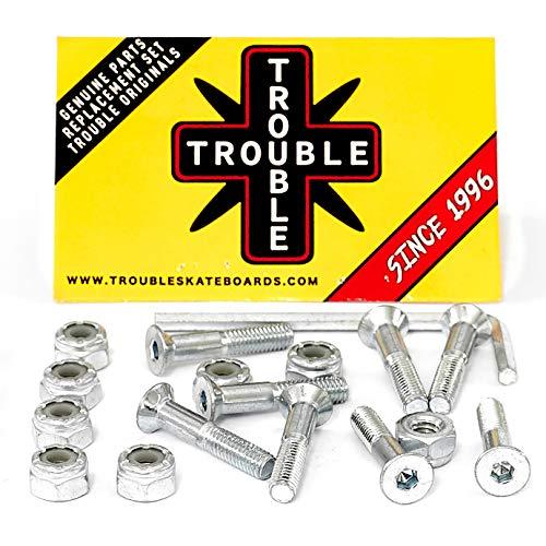 Trouble Skateboards 2,5 cm Silber Skateboard-Hardware, Inbusschrauben und Muttern (H3)