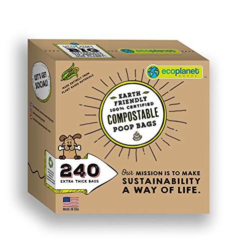 Ecoplanet Goods Compostable Dog Poop Bags I 240...