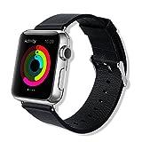 APPLE(アップル) Apple Watch ステンレス 42mm ブラックレザーループ(M)